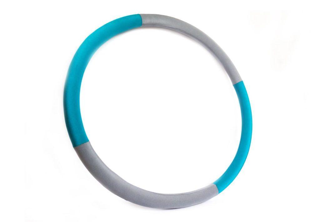 """Массажный Обруч """"Heavy Hoop"""" 1000 мм, вес 1 кг бирюзово-серый"""