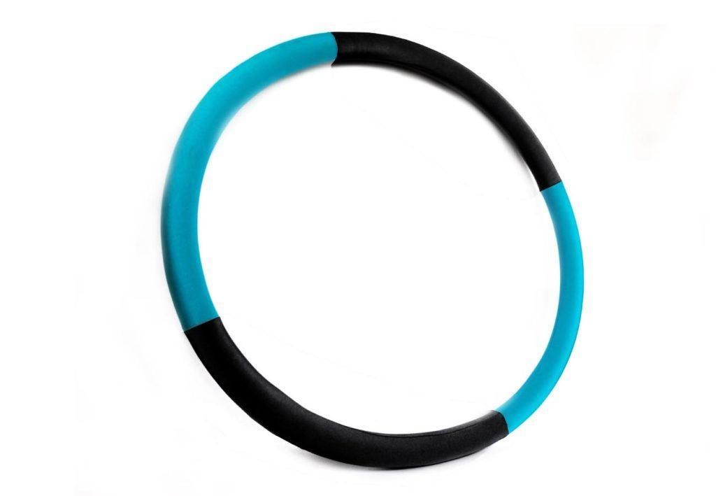 """Массажный Обруч """"Heavy Hoop"""" 1000 мм, вес 1 кг бирюзово-черный"""