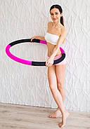 """Массажный Обруч """"Heavy Hoop"""" 1000 мм, вес 1 кг черно-малиновый, фото 2"""