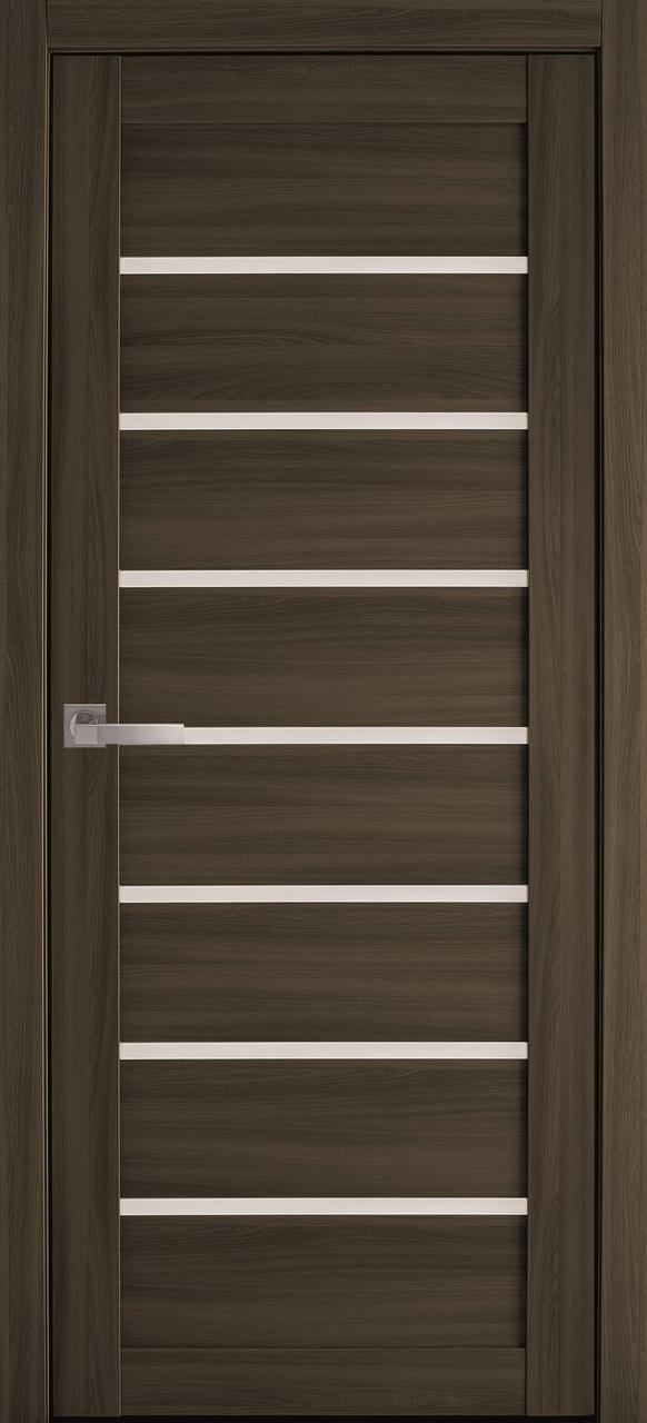 Двери межкомнатные Новый Стиль Леона стекло сатин 2000х700 Кедр
