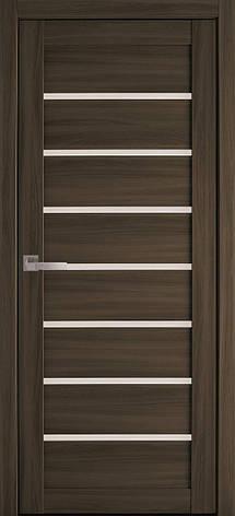 Двери межкомнатные Новый Стиль Леона стекло сатин 2000х700 Кедр, фото 2