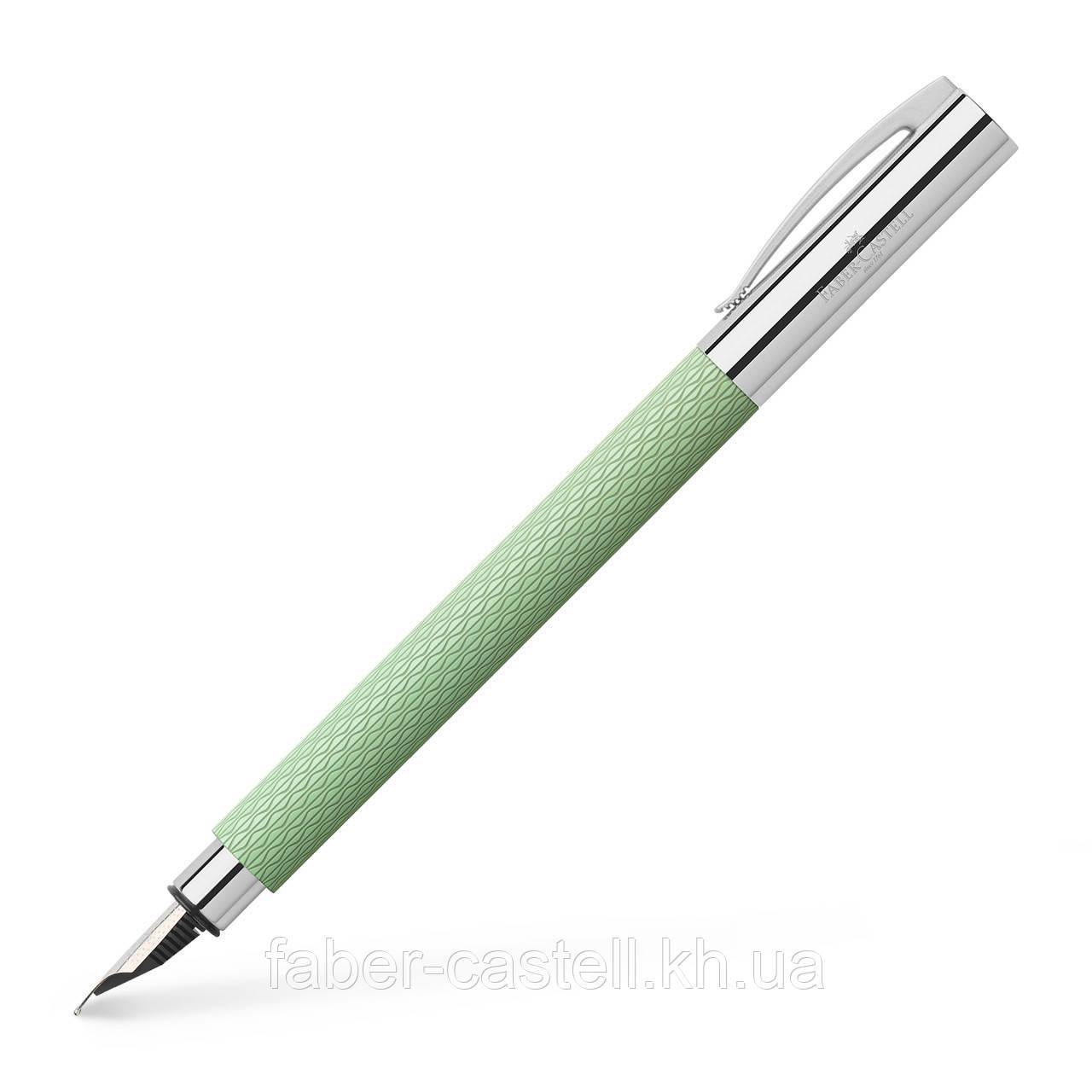 Перьевая ручка Faber-Castell Ambition OpArt Mint Green, цвет корпуса мятный зеленый, перо F,147011