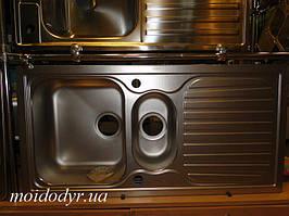 Мийка з нержавіючої сталі Apell 500 мм х 1000 мм декор