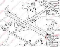 """Втулка сайлентблоков рессоры на серьгу (палец """"1 шт"""") Fiat Ducato 250 (2006-……) 1351264080 FAST FT18356"""