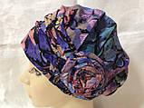 Летняя разноцветная   бандана-шапка-косынка-чалма-тюрбан с розочкой, фото 9