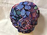 Летняя разноцветная   бандана-шапка-косынка-чалма-тюрбан с розочкой, фото 8