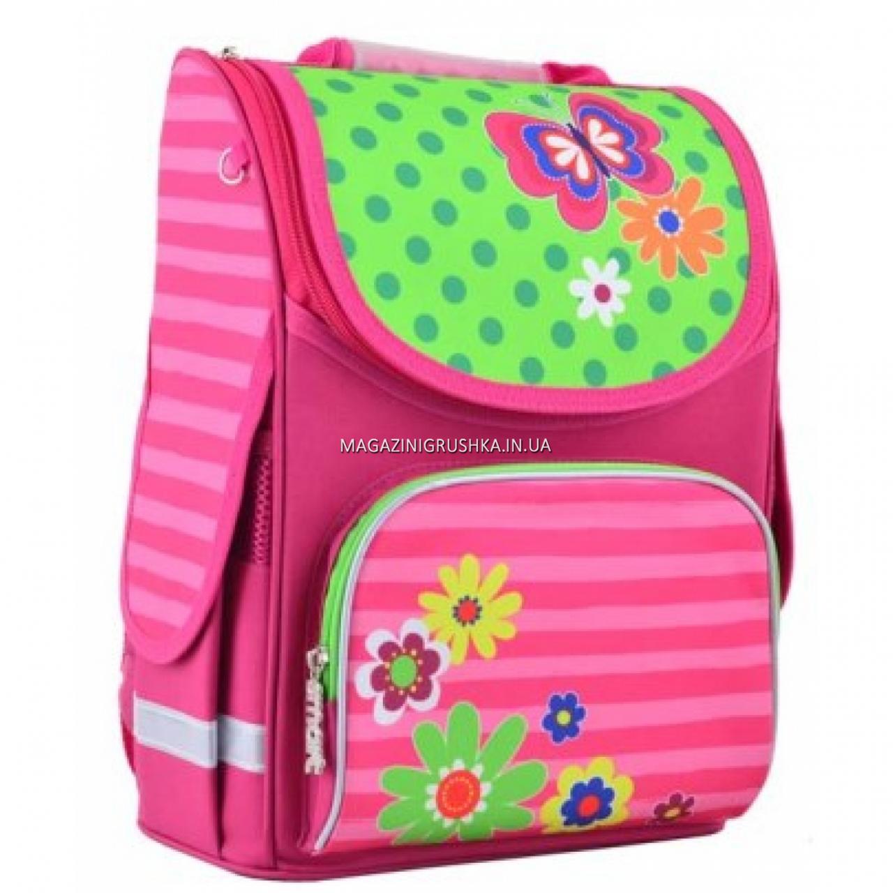 Рюкзак школьный каркасный Smart PG-11 Flowers Розовый (554511)
