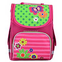 Рюкзак шкільний каркасний Smart PG-11 Flowers Рожевий (554511), фото 2