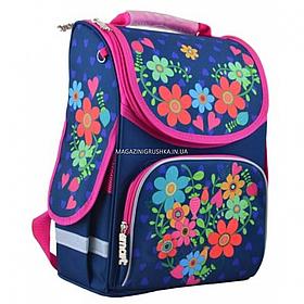 Рюкзак шкільний каркасний Smart PG-11 Flowers Синій (554464)