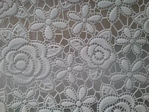Скатерть белая на праздничный стол ажурная, фото 3