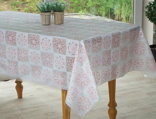 Клеенчатая скатерть на обеденный стол  Ажур, фото 2