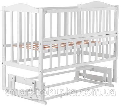 Ліжко Babyroom Зайченя ZL201 маятник, відкидний пліч-біла