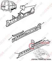 """Порог передней левой двери (фальш-борт """"без раздвижной двери"""") Fiat Scudo 220 (1995-2004) 7009 94 BLIC 6505-06-5575011P"""