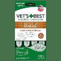 Vet`s Best кали от блох и клещей для собак и щенков от 7кг -18 кг (4 пипетки)