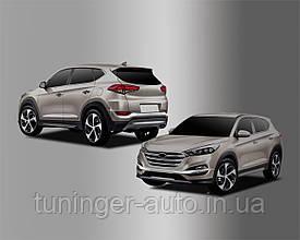 Хром накладки на галогенки Hyundai Tucson 2015-2017 (Autoclover C707)