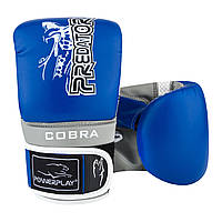 Снарядные перчатки, битки PowerPlay 3038 сине-серые M