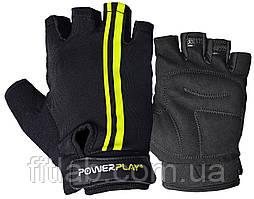 Велоперчатки PowerPlay 5031 G Черно-желтые S