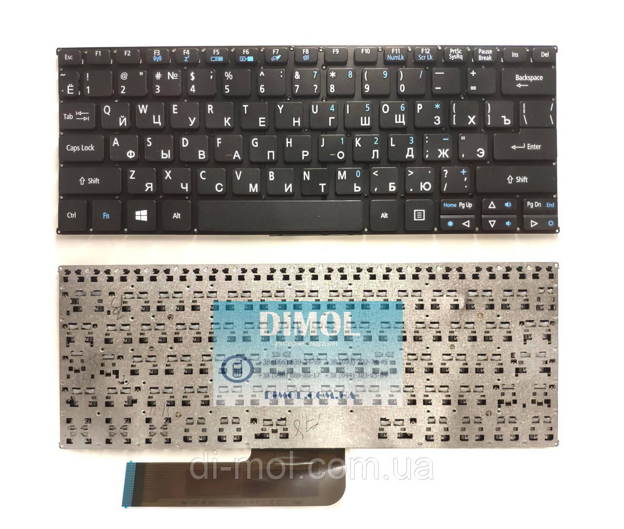 Оригинальная клавиатура для ноутбука Acer SW5 Switch 10 SW3 series, black, ru