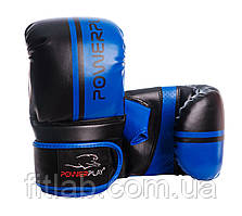 Снарядные перчатки, битки PowerPlay 3025 черно-синие M