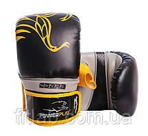 Снарядные перчатки, битки PowerPlay 3038 черно-желтые M