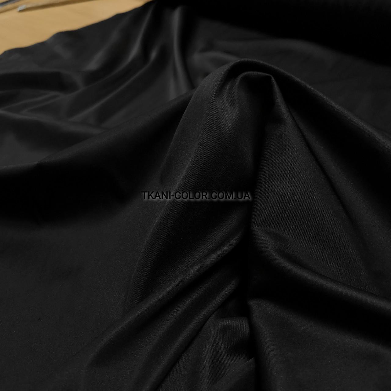 Костюмная ткань коттон мемори черный