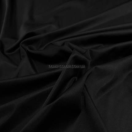 Костюмная ткань коттон мемори черный, фото 2