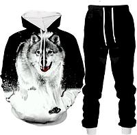 3D костюм с принтом серого Волка