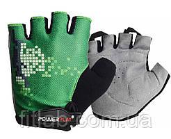Велоперчатки PowerPlay 002 C Зеленые L