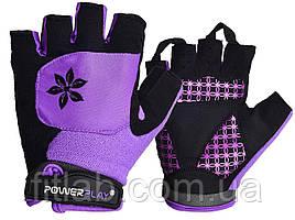 Велоперчатки женские PowerPlay 5284 Фиолетовые XS