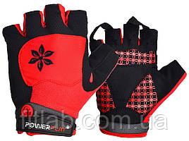 Велоперчатки женские PowerPlay 5284 A Красные S