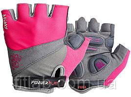 Велоперчатки женские PowerPlay 5277 Розовые XS