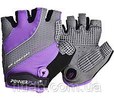 Велоперчатки женские PowerPlay 5023 A Фиолетовые S
