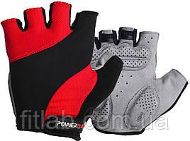 Велоперчатки PowerPlay 5041 D Черно-красные S