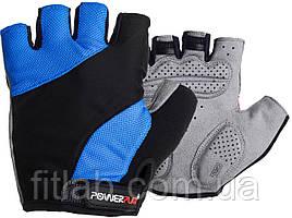 Велоперчатки PowerPlay 5041 B Черно-голубые L