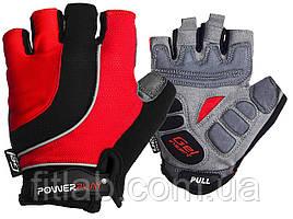 Велоперчатки PowerPlay 5037 B Черно-красные M