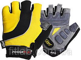 Велоперчатки PowerPlay 5037 C Черно-желтые S