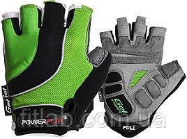 Велоперчатки PowerPlay 5037 Черно-зеленые M