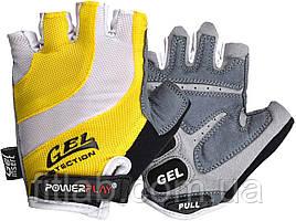 Велоперчатки PowerPlay 5034 B Бело-желтые M
