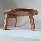 Столик для вина из дуба - менажница на ножках из дерева 35х35х18 см. НМ-144, фото 6
