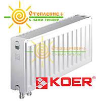 Стальной радиатор KOER 22 x 300 x 2000B нижнее подключение