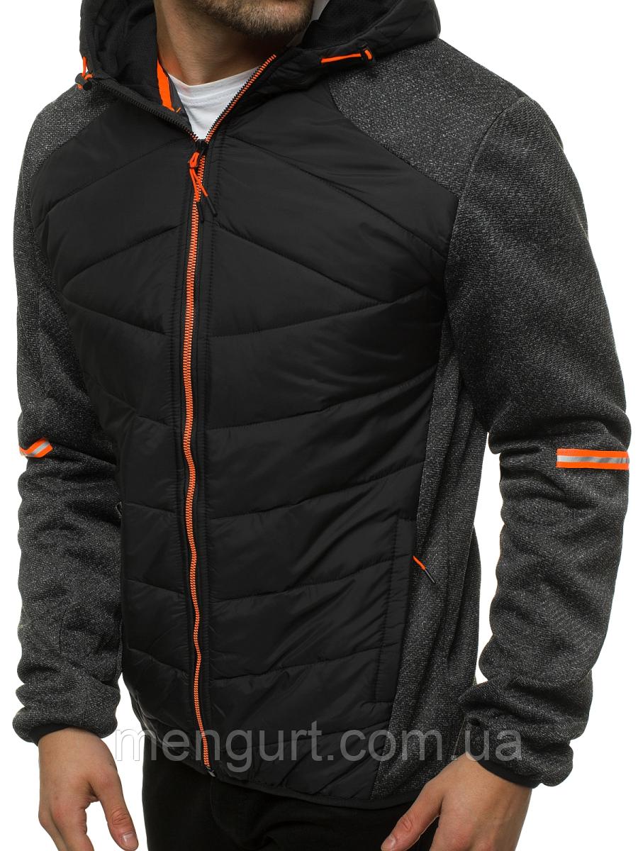 Спортивна куртка демісезонна(батник)чоловіча з капюшоном Польща