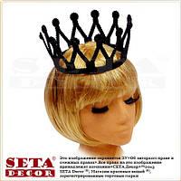 """Черная корона """"Королева"""" карнавальная, пластик"""