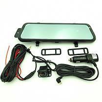 Автомобильный регистратор зеркало E92 с камерой заднего вида, фото 2