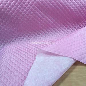 Підкладка стьобаний на синтапоне, паянка рожева