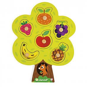 Пазл-вкладыш Janod Фруктовое дерево (J07061), фото 2