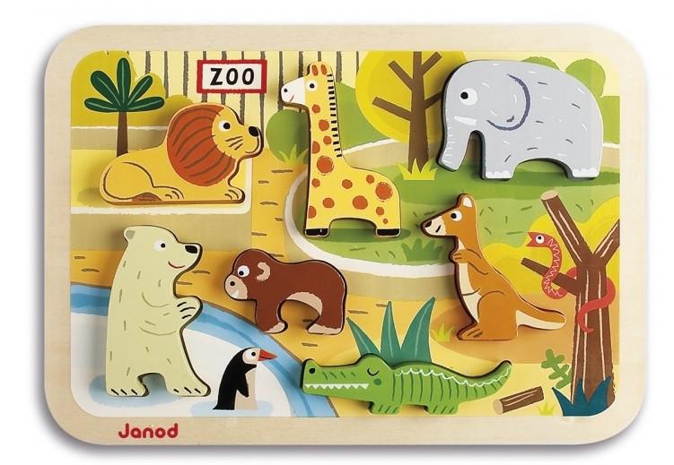 Пазл-вкладыш Janod Зоопарк (J07022)
