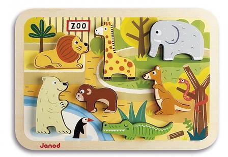 Пазл-вкладыш Janod Зоопарк (J07022), фото 2