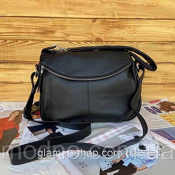Женская кожаная вместительная сумка Polina & Eiterou