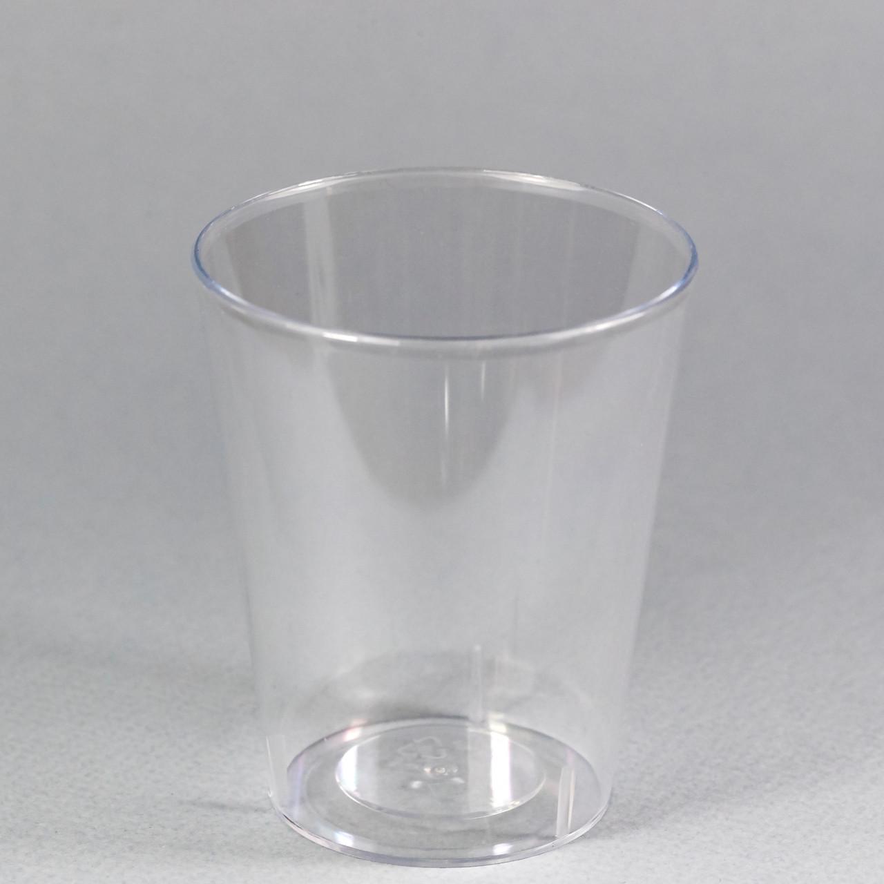 "Пиала фуршетная круглая 175 мл., 6,5х7,8 см., 25 шт/уп стеклоподобная, прозрачная ""Конус"""