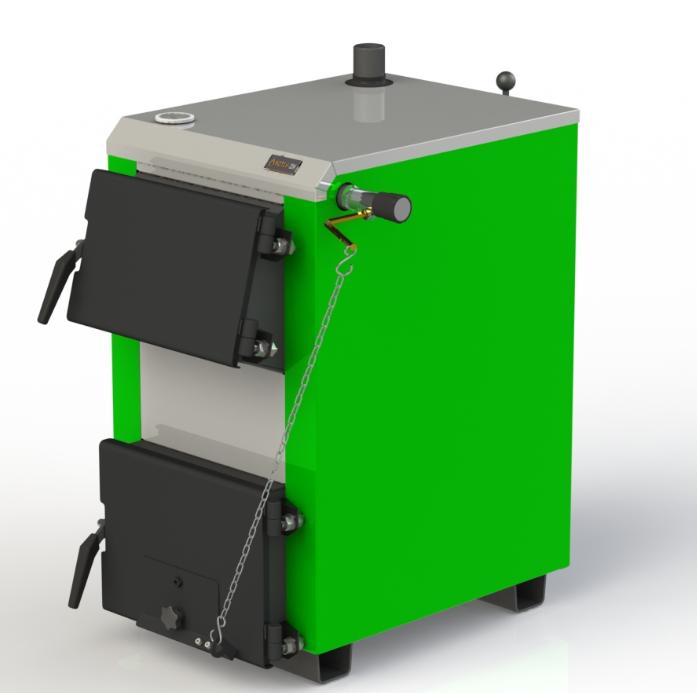 Твердотопливный бытовой котел Kotlant КО-15 кВт с механическим регулятором тяги